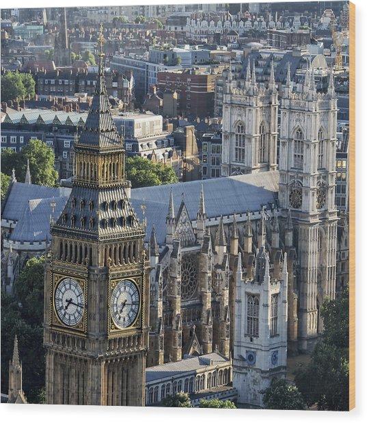 Big Ben And Westminster Wood Print