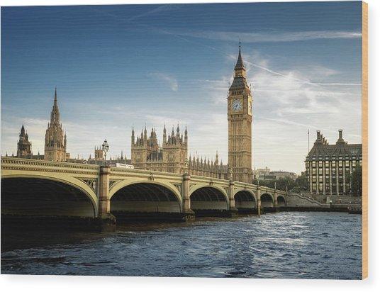 Big Ben, London Wood Print by Tangman Photography