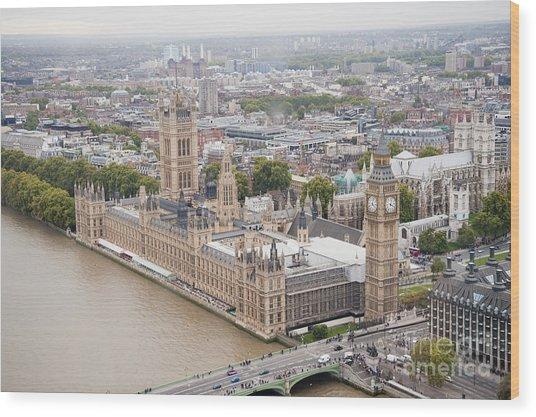 Big Ben Westminster Wood Print by Donald Davis