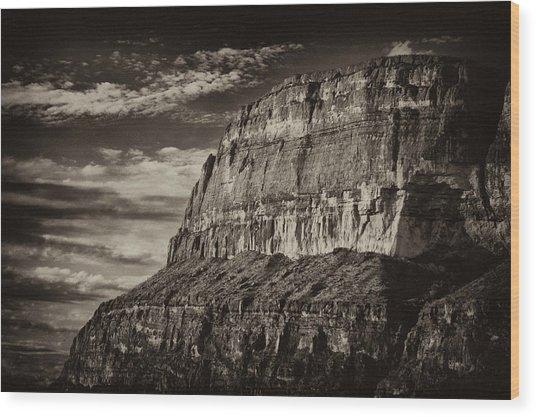 Big Bend Cliffs Wood Print