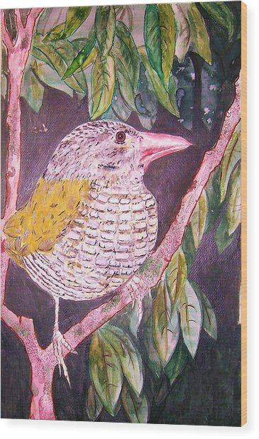 Big Bird Wood Print by Linda Vaughon