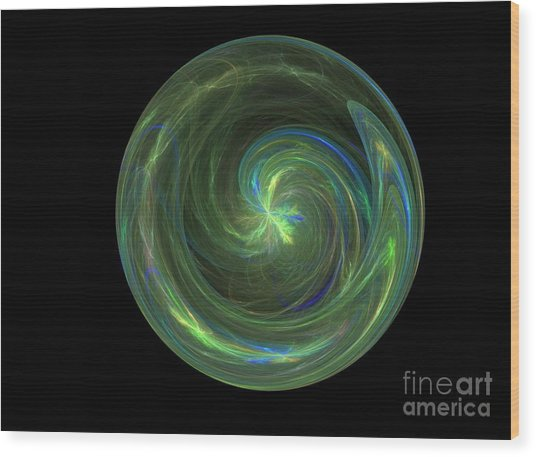 Big Blue Marble Wood Print by Terry Weaver