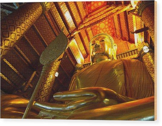Big Buddha Wood Print by Zestgolf
