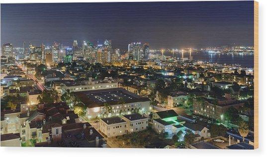 Big City Nights Wood Print