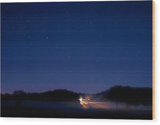 Big Dipper In The Valley Wood Print by Larry Bodinson