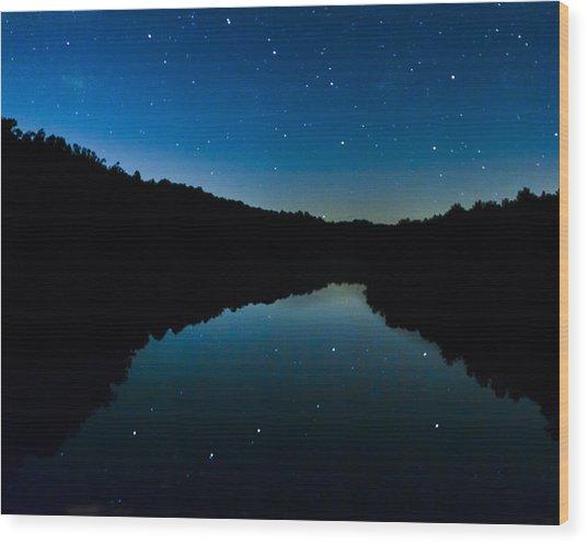 Big Dipper Reflection Wood Print