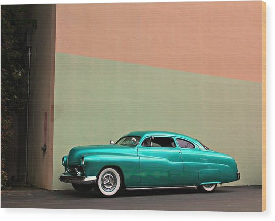 Big Green Merc Just Around The Corner Wood Print