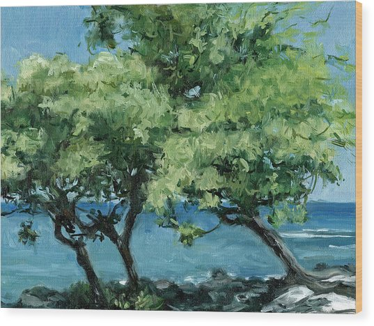 Big Island Trees Wood Print by Stacy Vosberg