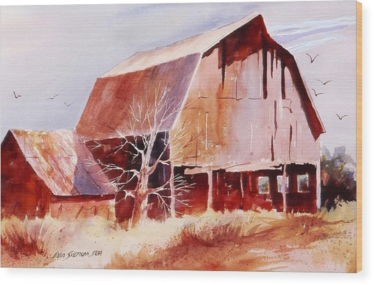Big Jim's Barn Wood Print