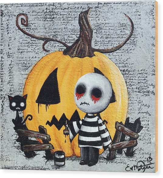 Big Juicy Tears Of Blood And Pain No. 11 The Great Pumpkin Wood Print