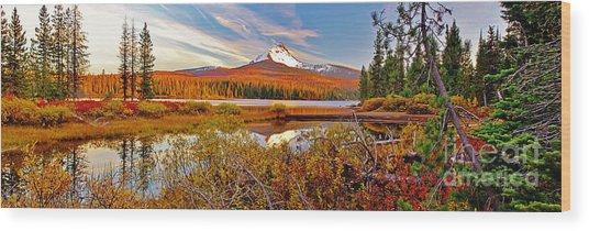 Big Lake And Mt Washington Oregon Wood Print