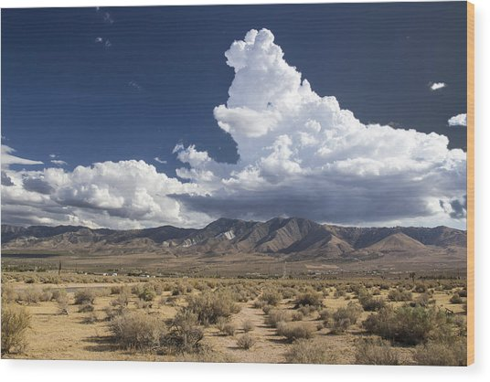 Big Mountains Bigger Clouds Wood Print