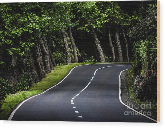 Big  Road Wood Print