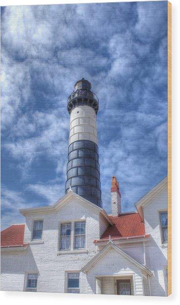 Big Sable Point Wood Print by Bruce Wilbur