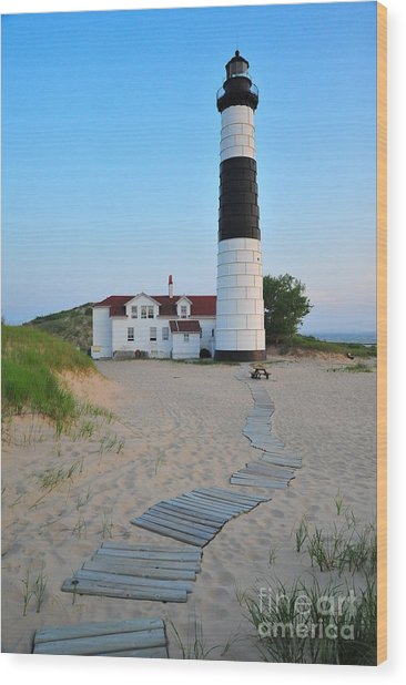 Big Sable Point Great Lakes Lighthouse Wood Print