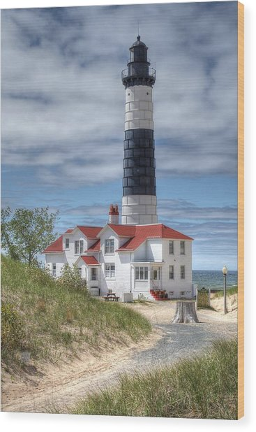 Big Sable Point Lighthouse Wood Print by Bruce Wilbur