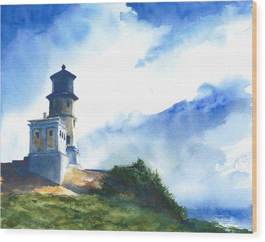 Big Sky At Split Rock Lighthouse Wood Print