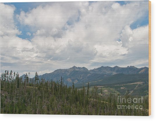 Big Sky Cloudscape Wood Print