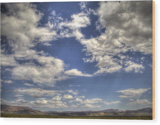 Big Sky Nevada Wood Print
