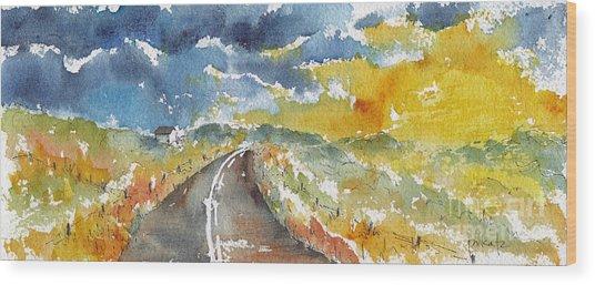 Big Sky - Open Road Wood Print