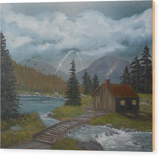 Big Storms A Comin' Wood Print
