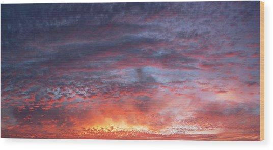 Big Sunset  Wood Print