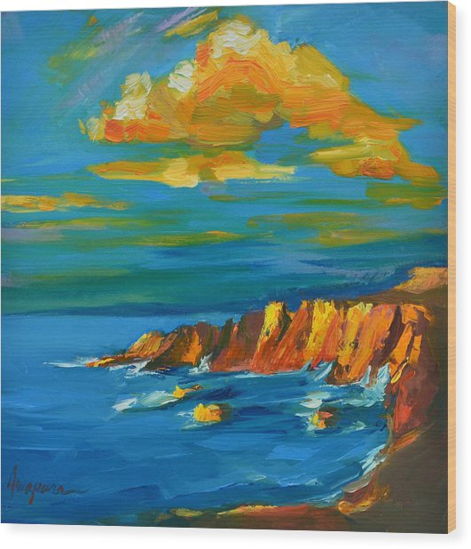 Big Sur At The West Coast Of California Wood Print