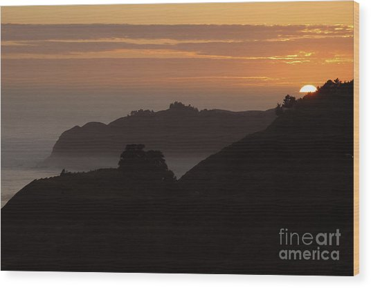 Big Sur Sunset Wood Print