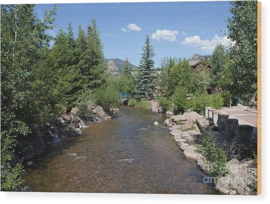 Big Thompson Estes Park Wood Print