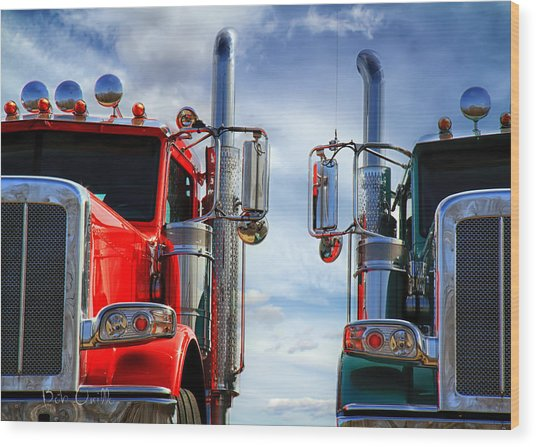 Big Trucks Wood Print