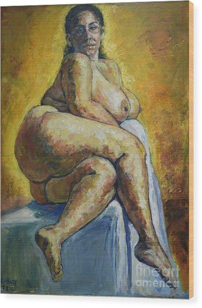 Big Woman Wood Print