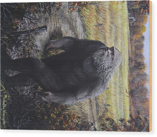 Bigfoot Wooly Booger Wood Print