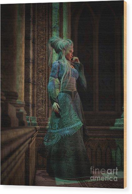 Bijou Stained Glass Wood Print