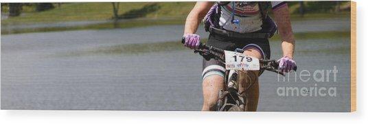 Bike By Woman Wood Print by Steven Digman