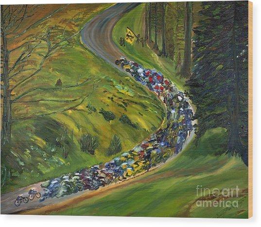 Bike Race Belgium Arden Spring Classics Wood Print by Gregory Allen Page