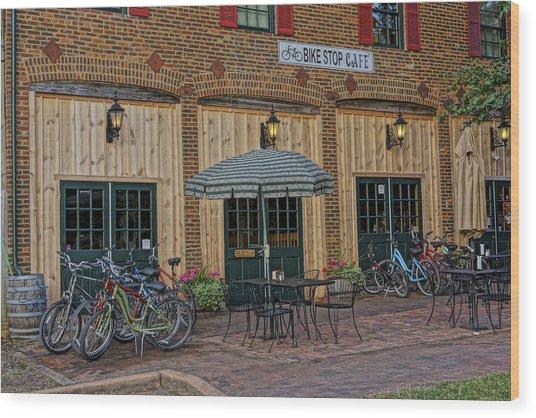 Bike Shop Cafe Katty Trail St Charles Mo Dsc00860 Wood Print