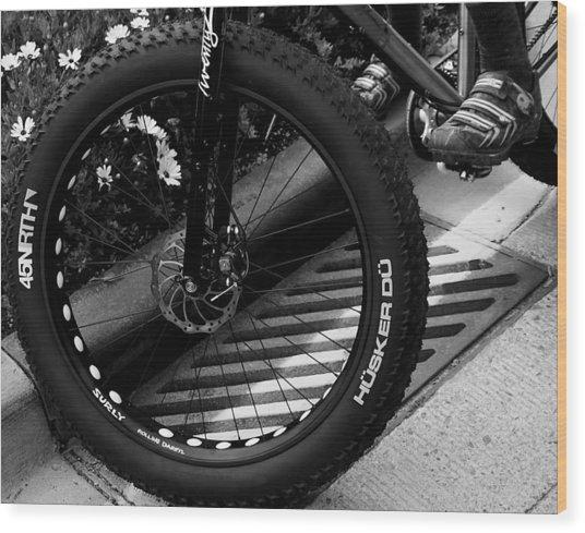 Bike Tire Wood Print
