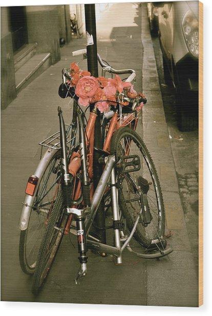 Bikes In Italy Wood Print