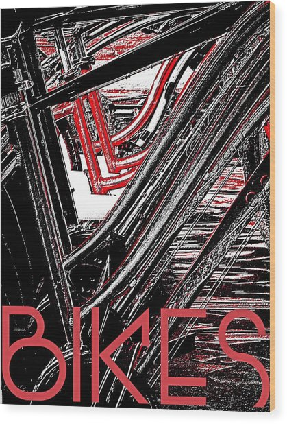 Bikes Poster -- A Wood Print by Brian D Meredith