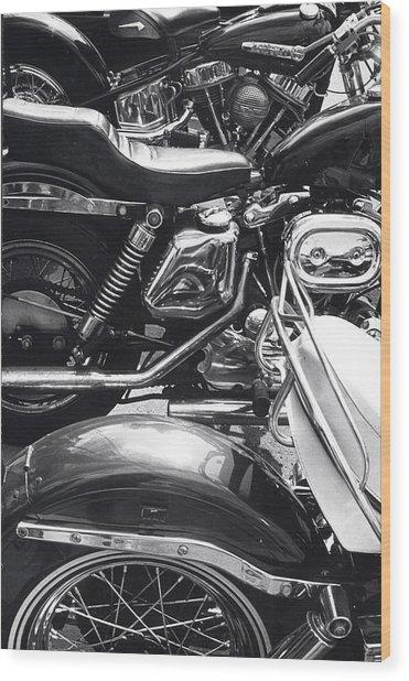 Bikes Wood Print