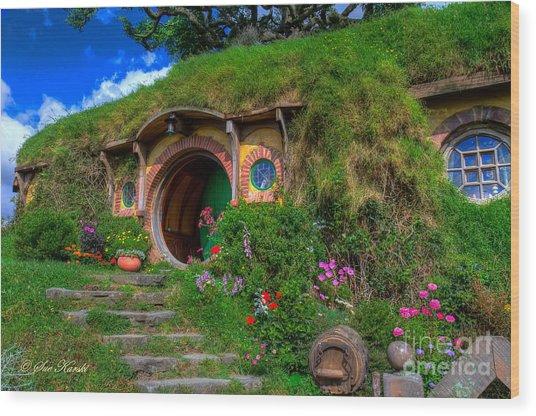 Bilbo Baggin's House 5 Wood Print