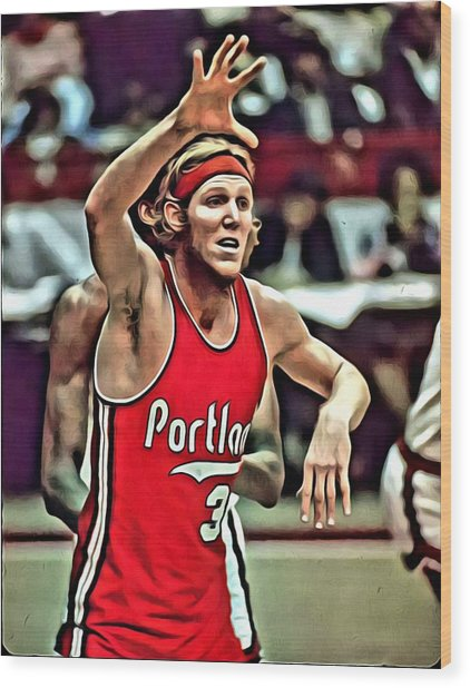 Bill Walton Wood Print