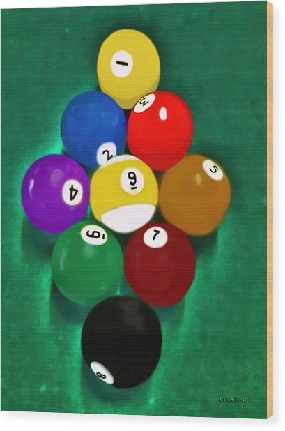 Billiards Art - Your Break 1 Wood Print