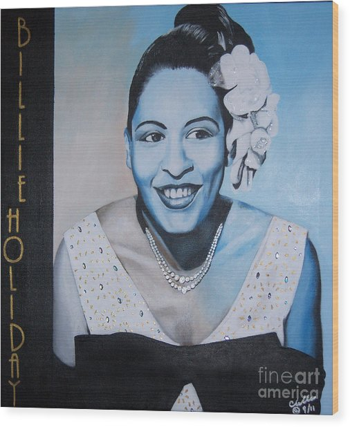 Billie Holiday Wood Print