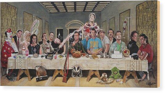 Bills Last Supper Wood Print