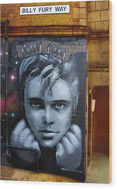 Billy Fury Way Wood Print by Stephen Norris