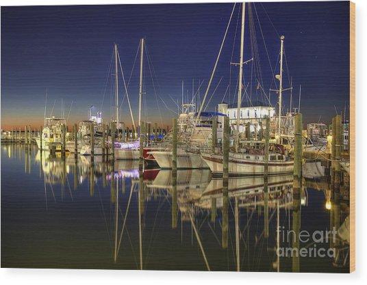 Biloxi Harbor Wood Print