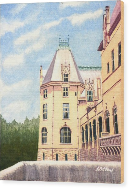 Biltmore Balcony Wood Print