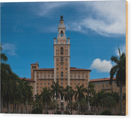 Wood Print featuring the photograph Biltmore Hotel Coral Gables by Ed Gleichman