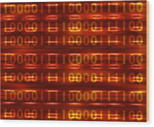 Binary Wood Print